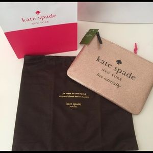 NWT KATE SPADE HOLIDAY DRIVE SPARKLING CLUTCH
